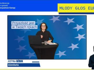 """Slajd z prezentacji """"Młody Głos Europy"""""""