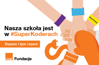 Plakat Nasza szkoła jest w #SuperKoderach