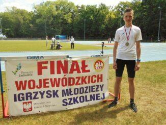 Uczeń ze złotym medalem Finał Igrzysk Młodzieży Szkolnej
