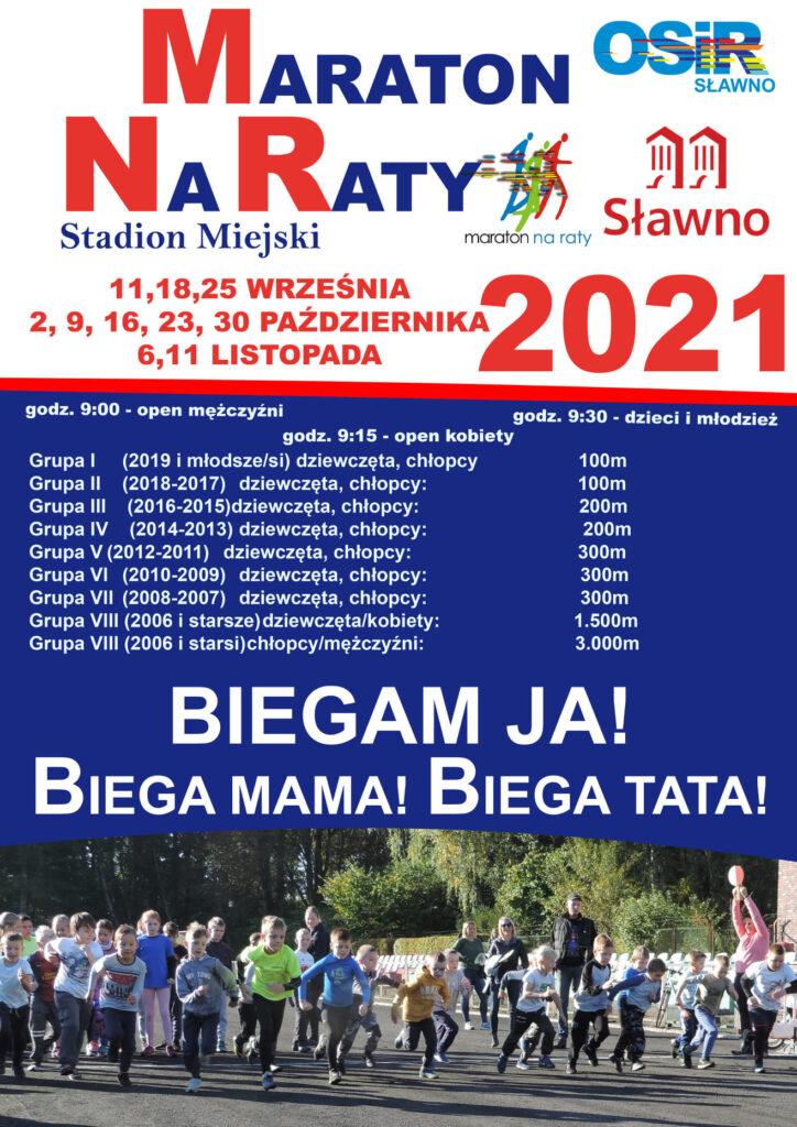 Plakat maraton naraty